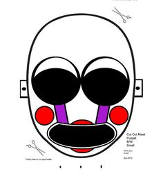 photograph regarding Five Nights at Freddy's Printable Mask called 5 Evenings @ Freddys
