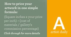 How to Price Your Artwork: This Formula Makes it Easy!