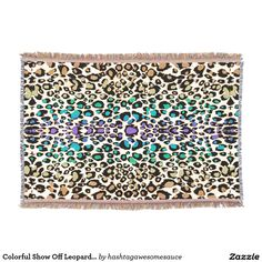 Colorful Show Off #Leopard #Animal-Print #Blanket  #zazzle