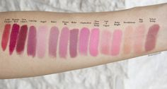 Love these mac makeup eyeshadow Image 5674 Best Mac Lipstick, Mac Lipstick Swatches, Makeup Swatches, Mac Lipsticks, Mac Angel Lipstick, Fall Lipstick, Makeup To Buy, Shopping, Lipsticks