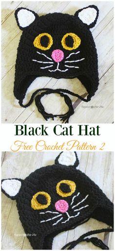 73cb97acc1a Black Cat Hat Crochet Free Pattern - Fun Kids  Cat   Hat