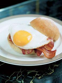 The Wolseley, London | Breakfast at The Wolseley  #brunch #bacon #egg #bap #breakfast #eat #London #Wolseley #food  http://www.squaremeal.co.uk/restaurant/the-wolseley