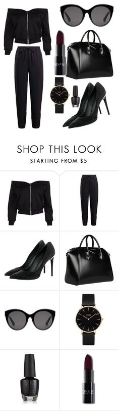 """""""#allblack"""" by jovaya ❤ liked on Polyvore featuring Louis Vuitton, Givenchy, Gucci and CLUSE"""