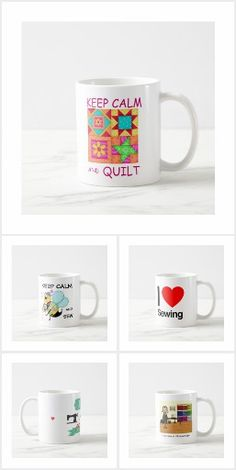 Lot of Mugs for the Moms, Mums, Grandmas and everyone who Sews. Click Visit to see them all! Knit Crochet, Quilts, Mugs, Sewing, Knitting, Tableware, Dressmaking, Dinnerware, Couture