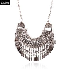 LuReen New Fashion Bohemian Long Tassel Choker Collar Necklaces Vintage Women Silver Coin Statement Necklace N312 - http://www.aliexpress.com/item/LuReen-New-Fashion-Bohemian-Long-Tassel-Choker-Collar-Necklaces-Vintage-Women-Silver-Coin-Statement-Necklace-N312/32254894324.html