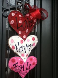 """""""Party Art"""" Burlap Door Hangers on Facebook...Have some of her others & love them:))"""