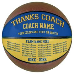 Coach Gifts Basketball Your COLORS, 8 Text Boxes - tap/click to get yours right now! #basketball #coach, #coaches, #basketball, #coach Basketball Schedule, Basketball Rules, Basketball Coach, Basketball Party, Girls Basketball, Basketball Skills, Basketball Awards, Basketball Scoreboard, Volleyball Drills