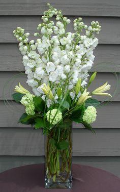 White Delphinium Gift Arrangement - Aspen Branch Original - www.aspenbranch.com