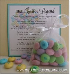 My Computer is My Canvas: FREEBIE - M&M Easter Legend Bookmark & Tag