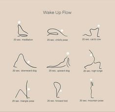 Wake Up Flow Morning stretches can help you stay in shape, become more flexible, and relieve sore mu Fitness Workouts, Yoga Fitness, At Home Workouts, Fitness Tips, Vie Motivation, Fitness Motivation, Wake Up Yoga, Self Care Activities, Flexibility Workout
