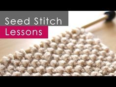 How to Knit the SEED Stitch Pattern | Studio Knit