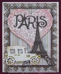 Juliz Design Post, vintage styled Parisian card