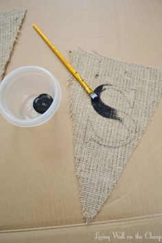 """DIY Banner would make a great """"give thanks"""" to hang in dining room."""