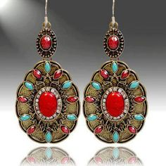 Use coupon code: pin10 for 10% off your first purchase on www.blondellamydean.com  #earrings #red #jewelry #blondellamydean