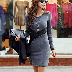 Deewo Women's Fashion Casual Bodycon Dress - USD $ 159.90