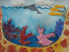 Once upon an Art Room: Ocean Layers and Coral Reefs