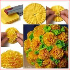 bloemen van servetten