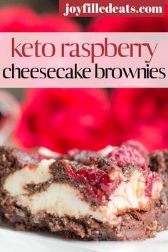 My Keto Cheesecake Brownies with raspberries are the perfect dessert or grab and go snack. With the flavors of chocolate, raspberries, and cheesecake these Raspberry Brownies will be your new favorite treat. This easy brownie recipe is also keto, gluten-free, grain-free, sugar-free, and Trim Healthy Mama friendly.