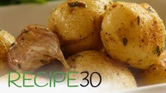 Simple New Potatoes with garlic and thyme - By RECIPE30.com