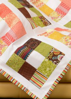 Have some extra fabric? Check out this free pattern for a Nine Patch Stash Buster quilt!