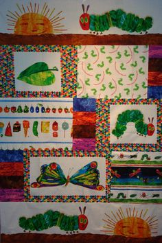 The Very Hungry Caterpillar Quilt Kit fabric by Eric Carle. $45.99, via Etsy.