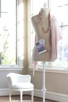 A simple dress form is one of the best ways to display baubles!