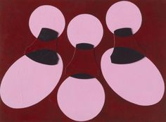 Patrick Caulfield - Wall Lights 1988 collage and acrylic on board