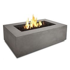 Real Flame Baltic 50 In. Rectangle Natural Gas Fire Table in Glacier Gray at Lowe's. Define your outdoor space with the clean design of a Real Flame Baltic rectangular Natural Gas fire table. Cast from a high performance, lightweight Propane Fire Pit Table, Gas Fire Pit Table, Wood Burning Fires, Gas Fires, Agaves, Home Depot, Natural Gas Fire Pit, Fire Pit Ring, Modern Fire Pit
