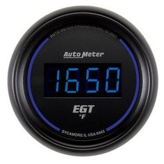 Auto Meter Cobalt Digital Pyrometer Gauge, 0-2000 °F