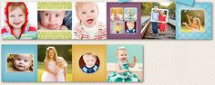 I like this Oh, Baby mini accordion album template…especially since it matches the bigger, full-size album template too. =) $18 #mini-accordion-album-template