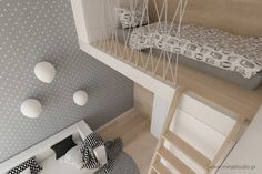teen room Krakow Grzegórzecka visualization by von - pokój nastolatki Room Design, Small Home Offices, Kid Beds, Girl Room, Teenage Room, Room Decor, Small Bedroom, Bedroom Decor, Small Lounge Rooms