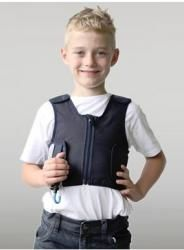 Squease is an inflatable pressure vest that is hidden away inside a hooded top. No weights are used; hug-like pressure is applied to the upper body simply by inflating the vest with air Ot Therapy, Therapy Tools, Weighted Vest Autism, Troubles Autistiques, Compression Vest, Sensory Tools, Sensory Overload, Stress, How To Wear