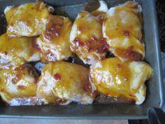 Apricot Dijon Glazed Chicken Thighs