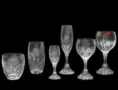FIFTY-THREE PIECE BACCARAT CRYSTAL PART STEMWARE SET - Estimate: $2000 - $3000