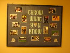 "A ""Throw What You Know"" board? Love it. #GTTR #Recruitment #DIY #Sorority"