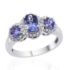 Check out this ILIANA 18K WG Premium AAA Tanzanite, Diamond Trilogy Ring on BriskSale: