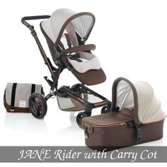 Jane Rider Package - Boheme/Brown Pram and Micro Carry Cot Package