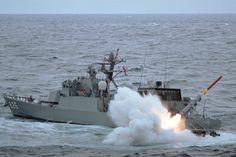 海上自衛隊:JAPAN MARITME PHOTOGRAHY:訓練 ~射撃・発射~