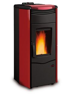 LaNordica-Extraflame | Scheda prodotto ExtraFlame Melinda Idro Steel Pellet Boiler in Burgundy. Have one of these biomass boilers installed to heat the house via underfloor heating and provide all our domestic hot water needs. Its fab. I'd recommend one.