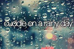 cuddle on a rainy day.
