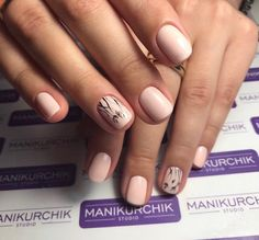 Beautiful delicate nails, Hardware nails, Ideas of plain nails, Nails ideas 2017, Pale pink nails, Pastel nails, Short nails 2017, Spring nail art