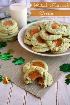 Pistachio Caramel Cookies