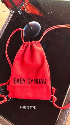 #madebyme #gymbag #baby #sewing #firsttry #diy #red #babygymbag
