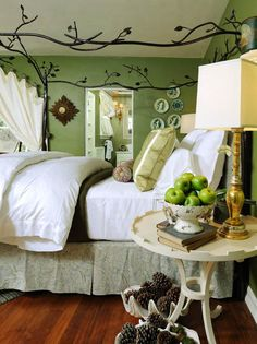 love love love the bed!!! Traditional Bedrooms from Kristi Nelson on HGTV