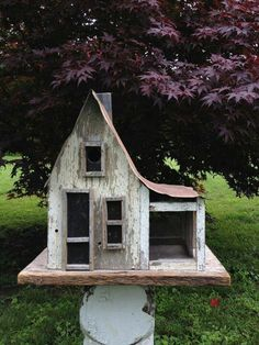 old farmhouse bird house. no link. just loved the pic and want to duplicate the bird house at some point.