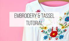 Embroidery & Tassel Tutorial - The Fold Line