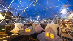 When alfresco dining is no longer on the cards, what's the next best option? How about an igloo? All-day restaurant Coppa Club has installed eight igloos for you to dine in.