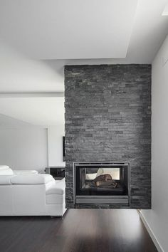 Here we showcase a a collection of perfectly minimal interior design examples for you to use as inspiration. Check out the previous post in the series: 20 Family Room Fireplace, Home Fireplace, Modern Fireplace, Fireplace Design, Fireplaces, Contemporary Interior Design, Interior Design Living Room, Interior Design Examples, Harrison Design