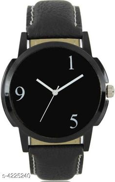 Watches Trendy Leather Men's Watches Strap Material: Leather Display Type: Analogue Size: Free Size Multipack: 1 Country of Origin: India Sizes Available: Free Size   Catalog Rating: ★4 (464)  Catalog Name: Classic Men Watches CatalogID_604109 C65-SC1232 Code: 681-4225240-423