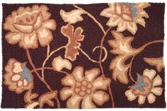 A colorful, machine washable Jellybean rug featuring a tan floral pattern! Jellybean Rugs, Novelty Rugs, Rugs And Mats, Better Than Yours, Jacobean, Litter Box, Jelly Beans, Outdoor Rugs, Your Pet